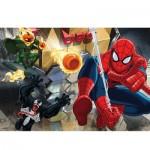 Puzzle 100 pièces : Spiderman mène le combat