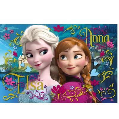 puzzle 100 pi ces la reine des neiges elsa et anna jeux et jouets trefl avenue des jeux. Black Bedroom Furniture Sets. Home Design Ideas