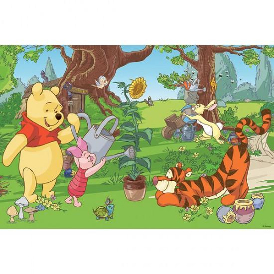 Puzzle 100 pièces - Le jardinage avec Winnie et ses amis - Trefl-16185