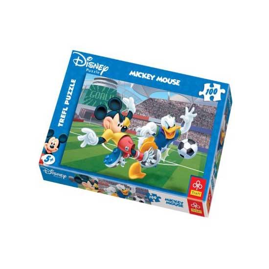 Puzzle 100 pièces - Mickey et ses amis : Match de Football - Trefl-16122