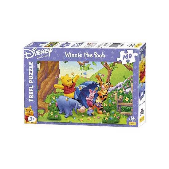 Puzzle 100 pièces - Winnie l'Ourson : Ballade printanière - Trefl-16093
