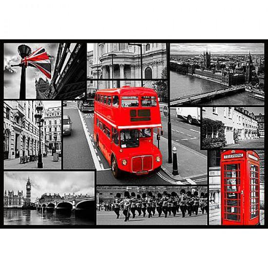 Puzzle 1000 pièces - Londres : Collage - Trefl-10278