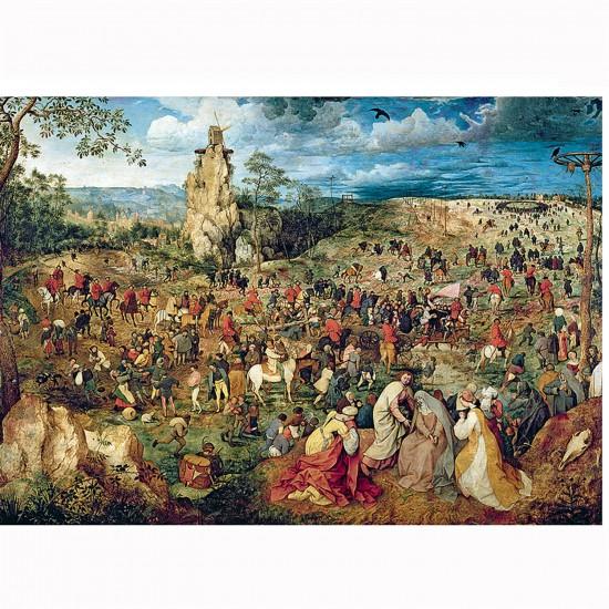 Puzzle 1000 pièces : Art Brueghel : La montée au calvaire - Trefl-10292
