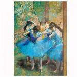 Puzzle 1000 pièces : Art Degas : Les danseuses bleues