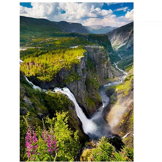Puzzle 1000 pièces : Cascade Voringsfossen, Norvège - Trefl-10382