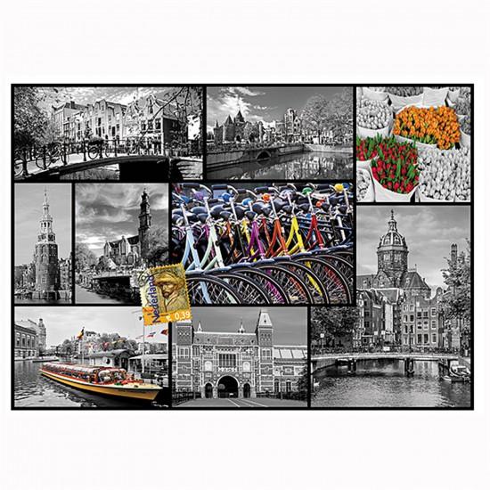 Puzzle 1000 pièces : Collage Amsterdam, Pays-Bas - Trefl-10352