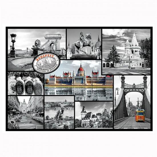 Puzzle 1000 pièces : Collage Budapest, Hongrie - Trefl-10347