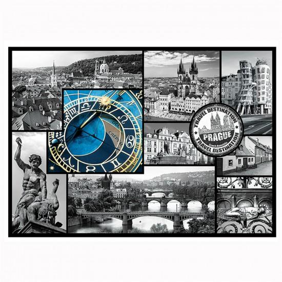 Puzzle 1000 pièces : Collage Prague, République tchèque - Trefl-10346