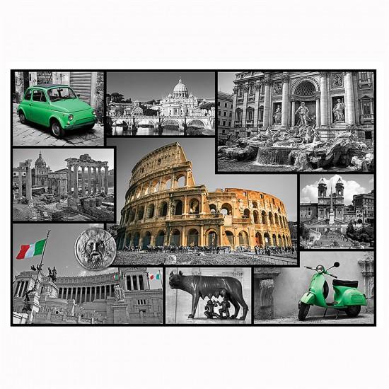 Puzzle 1000 pièces : Collage Rome, Italie - Trefl-10350