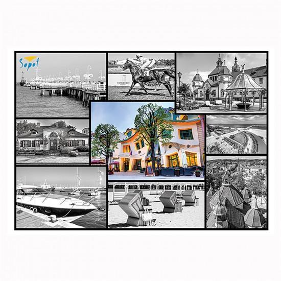 Puzzle 1000 pièces : Collage Sopot, Pologne - Trefl-10345