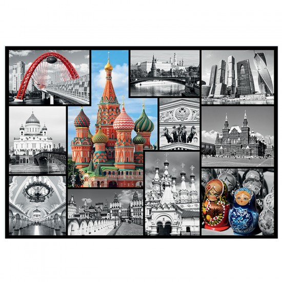 Puzzle 1000 pièces : Moscou - Trefl-10380