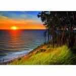 Puzzle 1000 pièces - Coucher de soleil sur la mer baltique