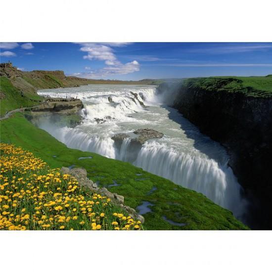 Puzzle 1000 pièces - Golden Falls, Islande - Trefl-10314