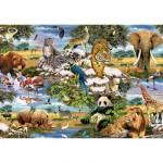 Puzzle 1000 pièces - Les animaux du monde