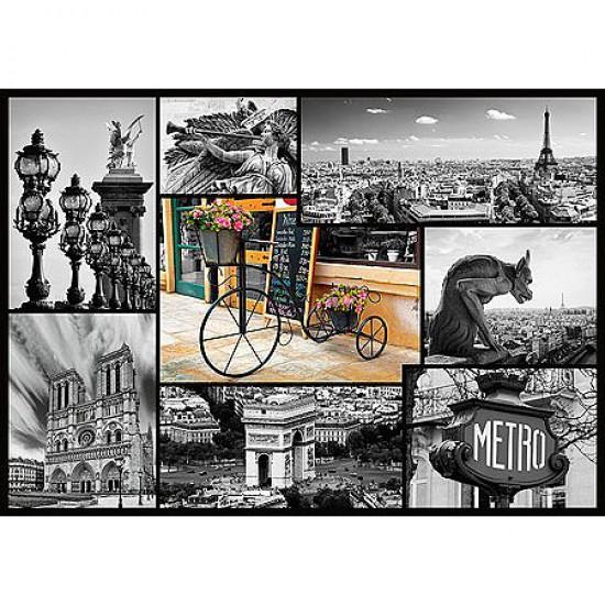 Puzzle 1000 pièces - Paris : Collage - Trefl-10279