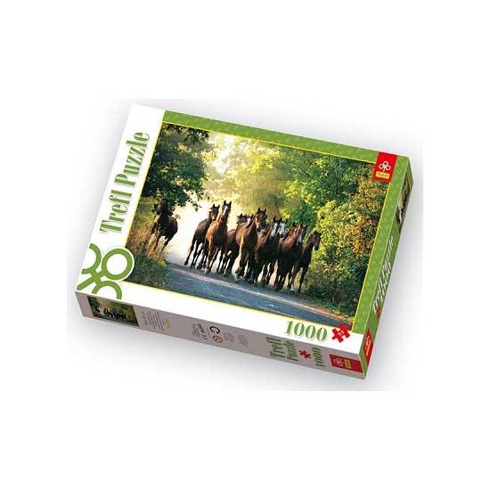 Puzzle 1000 pièces - Promenade des chevaux - Trefl-10168