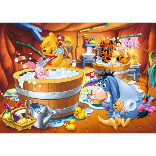 Puzzle 1000 pièces - Winnie et ses amis à l'heure du bain - Trefl-10310