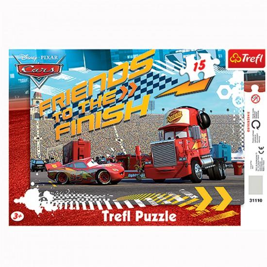 Puzzle 15 pièces : Cars : Flash et Mack - Trefl-31110