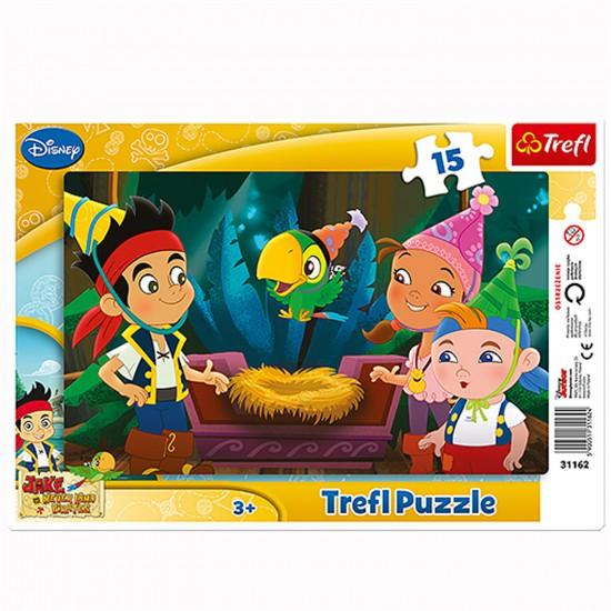 Puzzle 15 pièces : Jake et les pirates : Vivre de nouvelles aventures - Trefl-31162