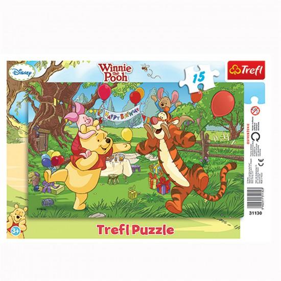 Puzzle 15 pièces : Joyeux anniversaire Winnie - Trefl-31130