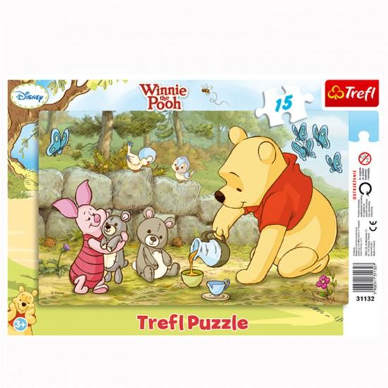 Puzzle 15 pièces : Winnie et ses amis prennent le thé - Trefl-31132