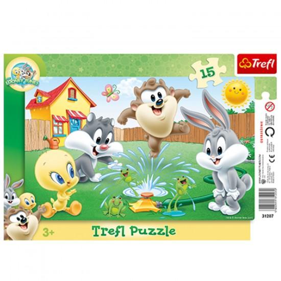 Puzzle 15 pièces Looney Tunes : Jeux dans le jardin - Trefl-31207