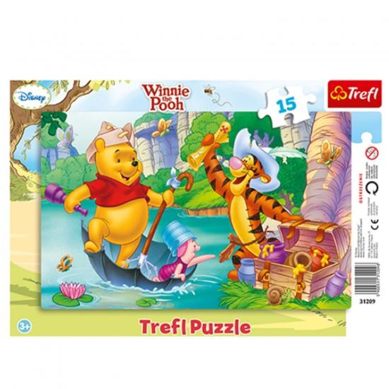 Puzzle 15 pièces Winnie l'ourson : Pirates - Trefl-31209