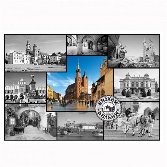 Puzzle 1500 pièces : Collage Cracovie, Pologne - Trefl-26126