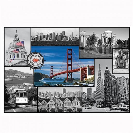 Puzzle 1500 pièces : Collage San Francisco, Californie - Trefl-26127