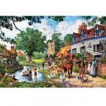 Puzzle 1500 pièces : La vie à la campagne
