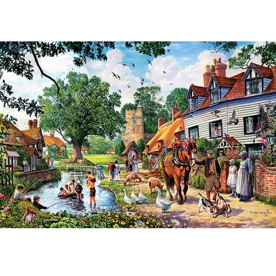 Puzzle 1500 pièces : La vie à la campagne - Trefl-26121