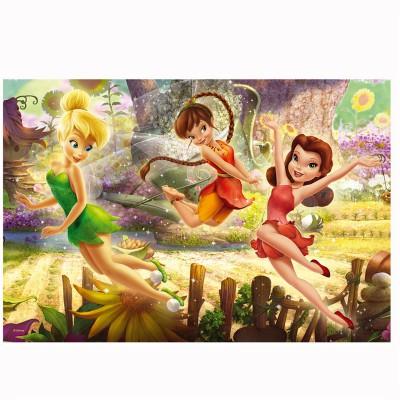 Puzzle 160 pi ces disney fairies la f e clochette et ses amies puzzle trefl rue des puzzles - Fee clochette et ses copines ...