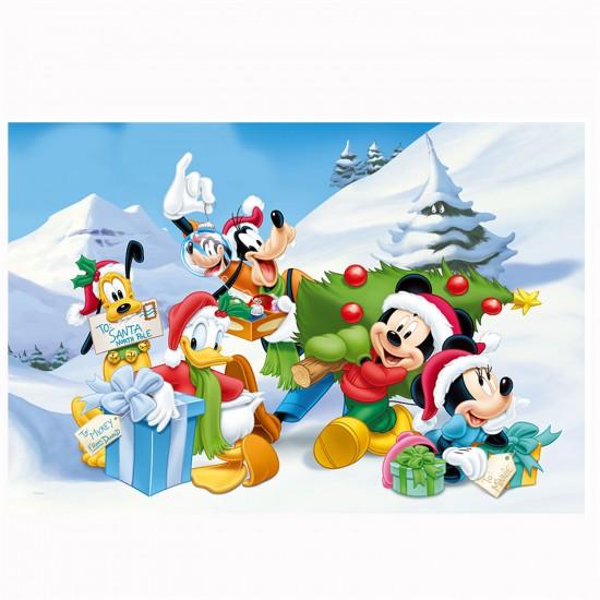 Puzzle 160 pièces : Mickey et ses amis dans la neige - Trefl-15198