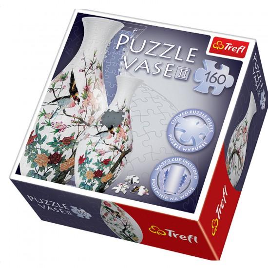 Puzzle 160 pièces 3D : Vase Art oriental - oiseau - Trefl-60209
