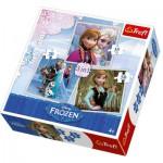 Puzzle 20 à 50 pièces : 3 puzzles : La Reine des Neiges (Frozen)