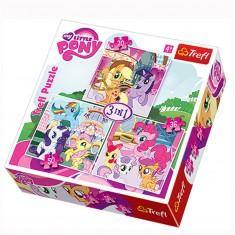 Puzzle 20 à 50 pièces : 3 puzzles : Mon petit poney