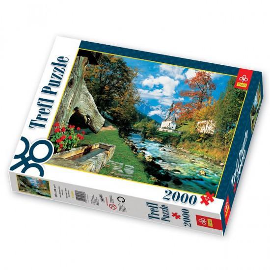 Puzzle 2000 pièces - Village de montagne, Allemagne - Trefl-27061
