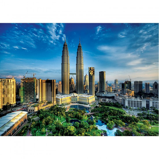 Puzzle 2000 pièces : Petronas Twin Towers - Trefl-27075