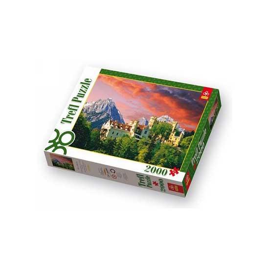 Puzzle 2000 pièces - Château de Hohenschwangau, Allemagne - Trefl-27053