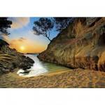 Puzzle 2000 pièces - Coucher de soleil sur la Costa Brava, Espagne