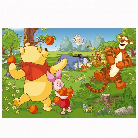 Puzzle 24 pièces : Winnie l'ourson et ses amis dans le verger - Trefl-14136