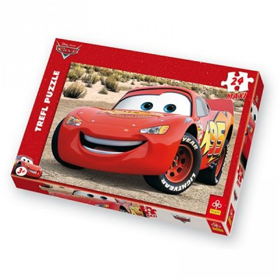 Puzzle 24 pièces - Cars : Flash Mc Queen - Trefl-14082