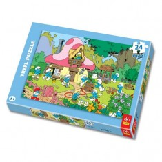 Puzzle 24 pièces maxi - Le village des Schtroumpfs