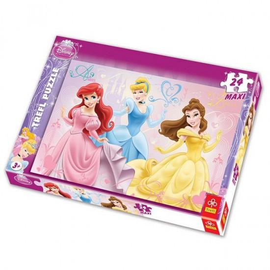 Puzzle 24 pièces maxi - Les Princesses Disney - Trefl-14125