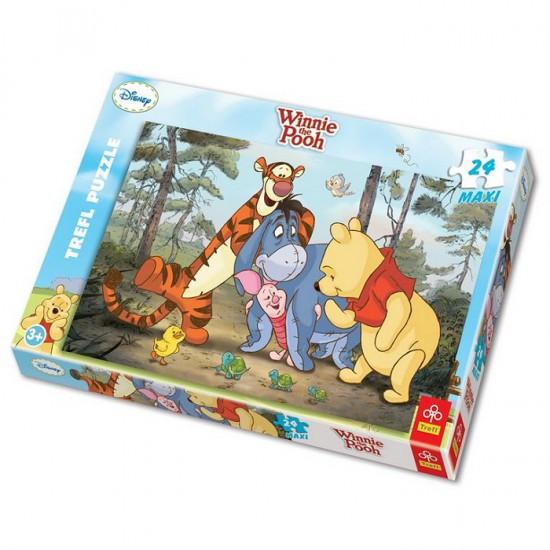Puzzle 24 pièces maxi - Winnie l'ourson et ses amis - Trefl-14124