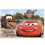 Puzzle 24 pièces maxi Cars : Flash et Martin à Radiator Springs