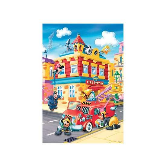Puzzle 24 pièces - Mickey et ses amis : La caserne des pompiers - Trefl-14083