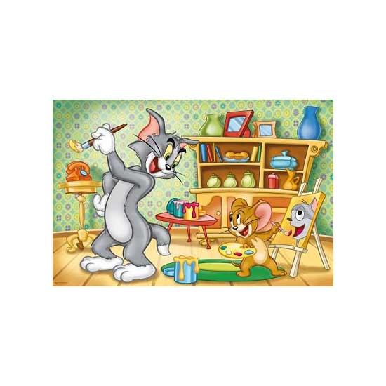 Puzzle 24 pièces - Tom et Jerry : Peinture - Trefl-14103
