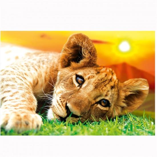 Puzzle  260 pièces : Lionceau au coucher de soleil - Trefl-13163