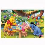Puzzle 260 pièces : Winnie l'ourson et ses amis jouent aux cartes